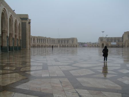 Mosquée Hassan II-le-parvis